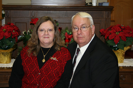 Pastor Terry Ritchie and wife Barbara